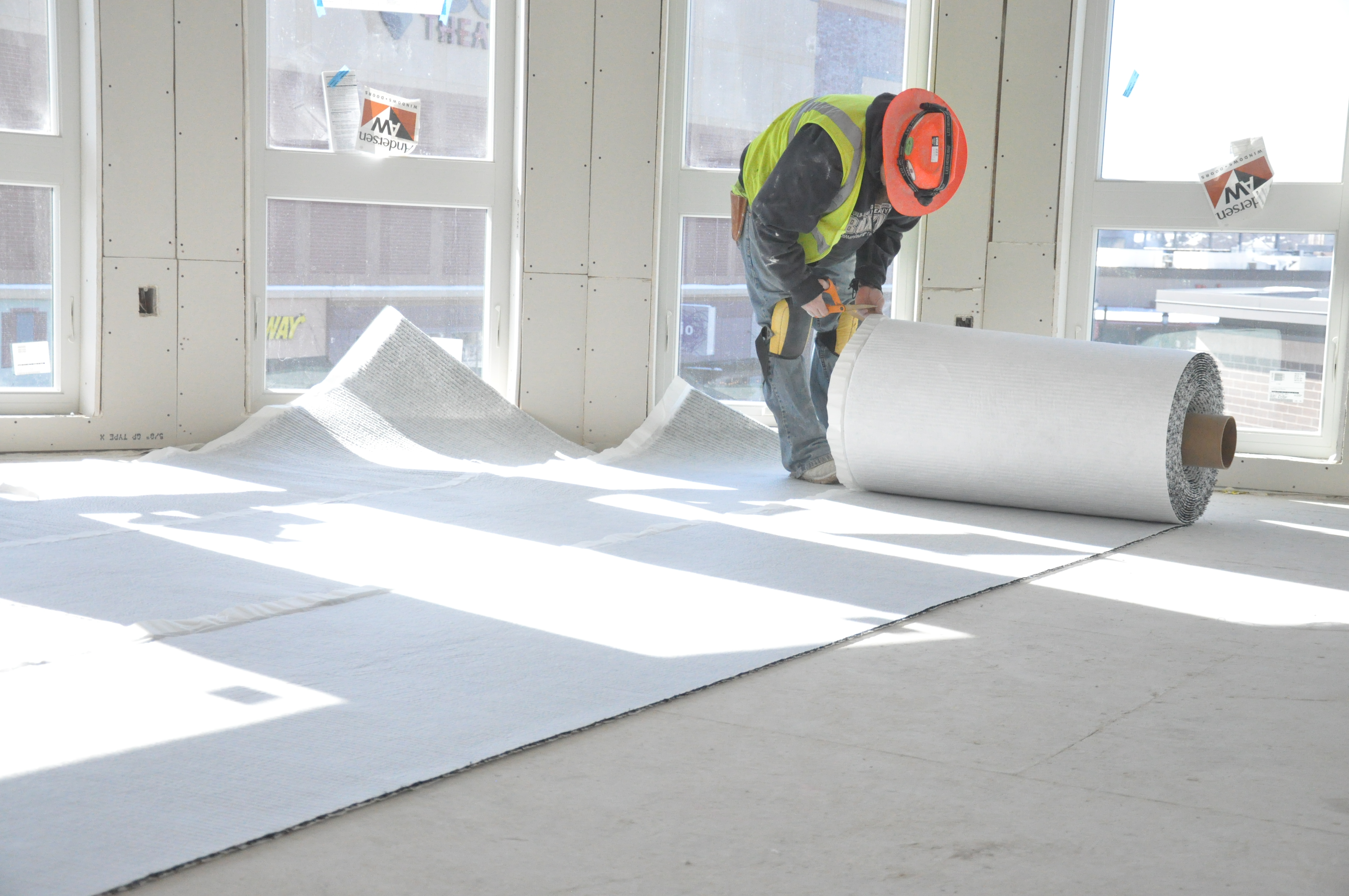 Floor Technologies of Hawaii installs Acousti-Mat LP, ideal for sound control in concrete construction